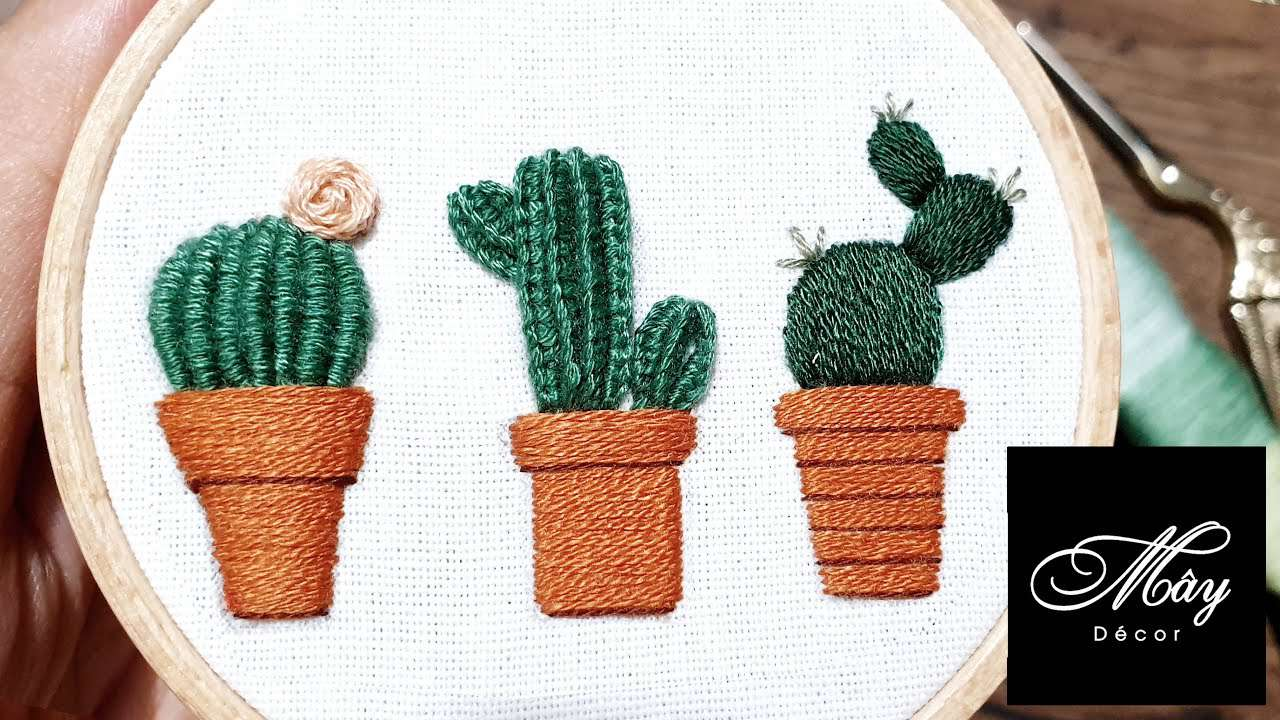 Cactus Embroidery Video Tutorial