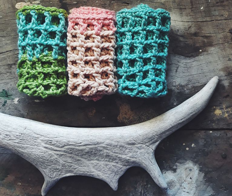 Mesh Crochet Dishcloth Pattern