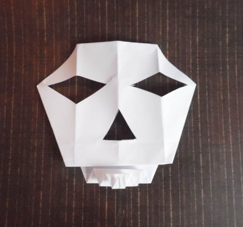 origami skull instructions easy diy for kids
