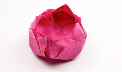 Origami how to make an origami napkin lotus mightylinksfo