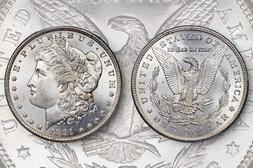 1891-Cc Morgan Silver Dollar in Uncirculated Condition