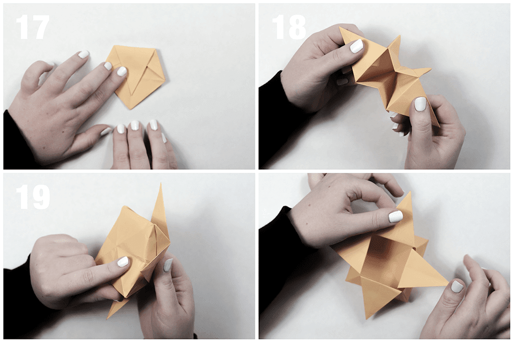 Origami star box | Paper box easy making Tutorial for kids ... | 683x1024
