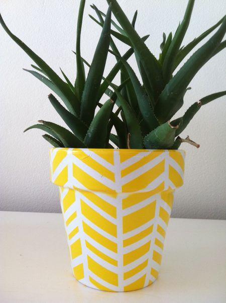 16 diy flower pot ideas to showcase your plants diy herringbone plant pot mightylinksfo