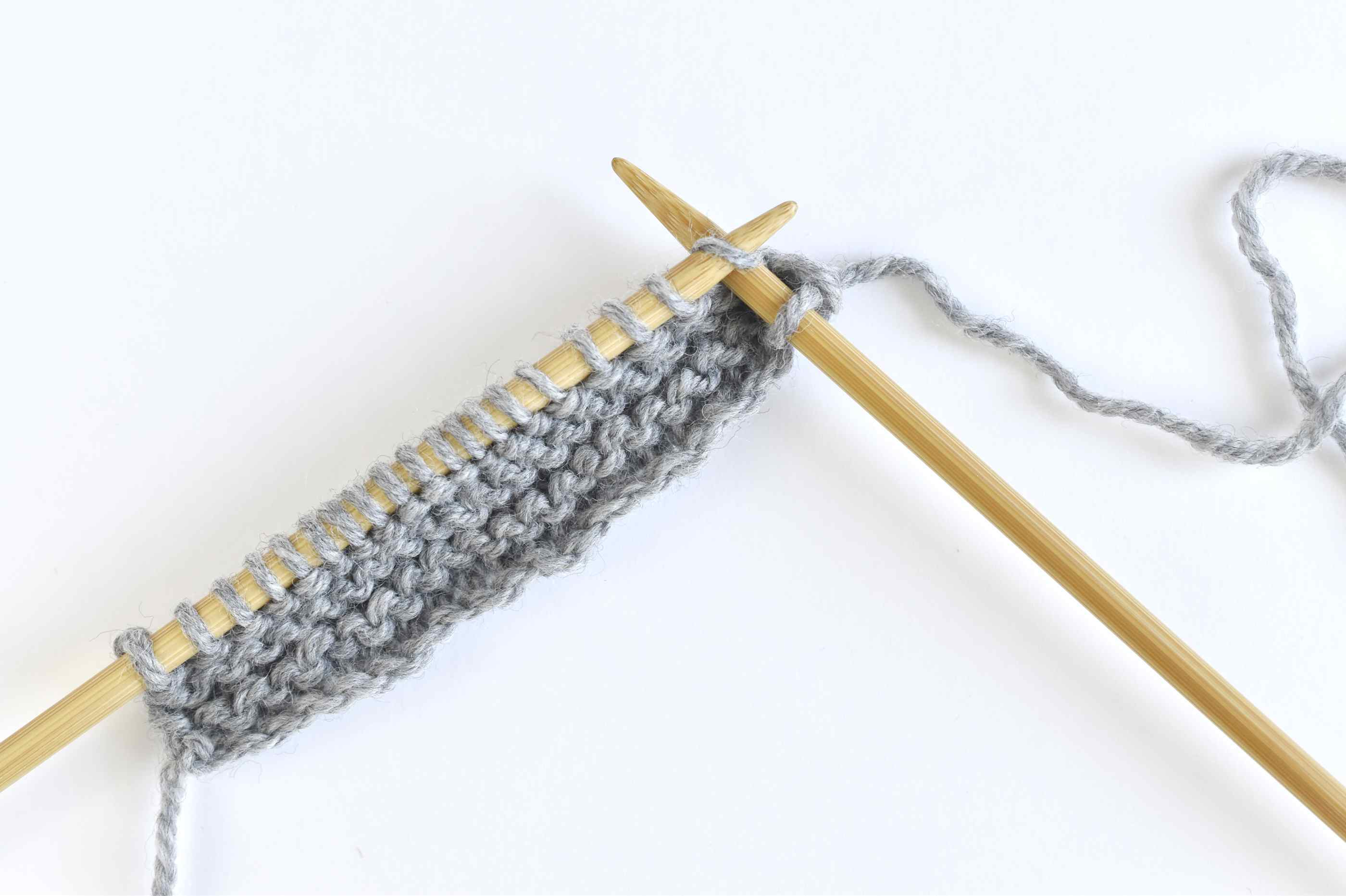 Continue Working All Knit Stitches