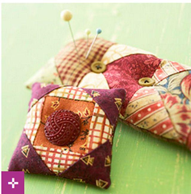 BHG Pincushions from Fabric Scraps