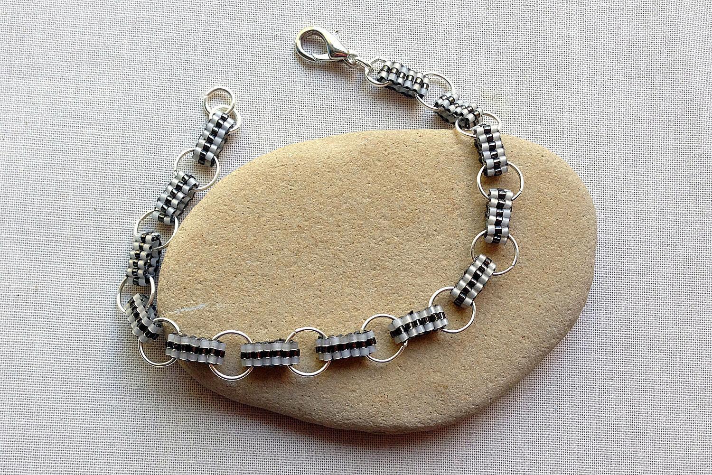 Ladder stitch bracelet