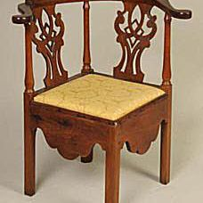 Ca. Mid-19th Century English Chippendale Style Corner Chair