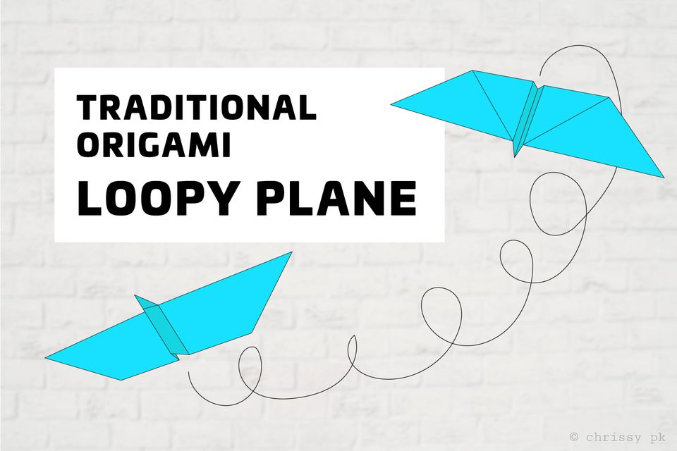 Traditional origami loopy aeroplane