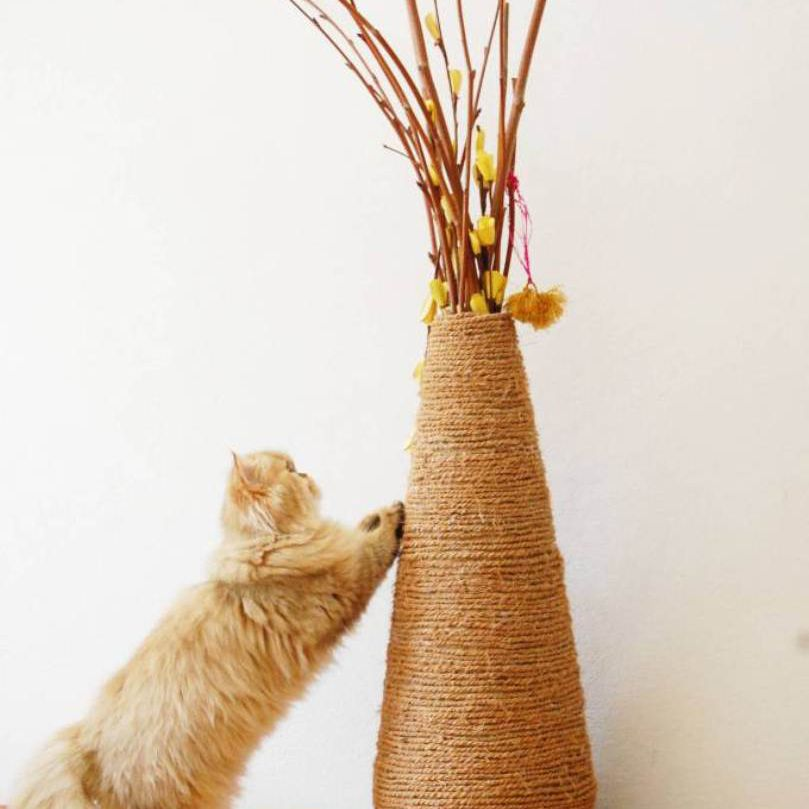 diy vase scratching post