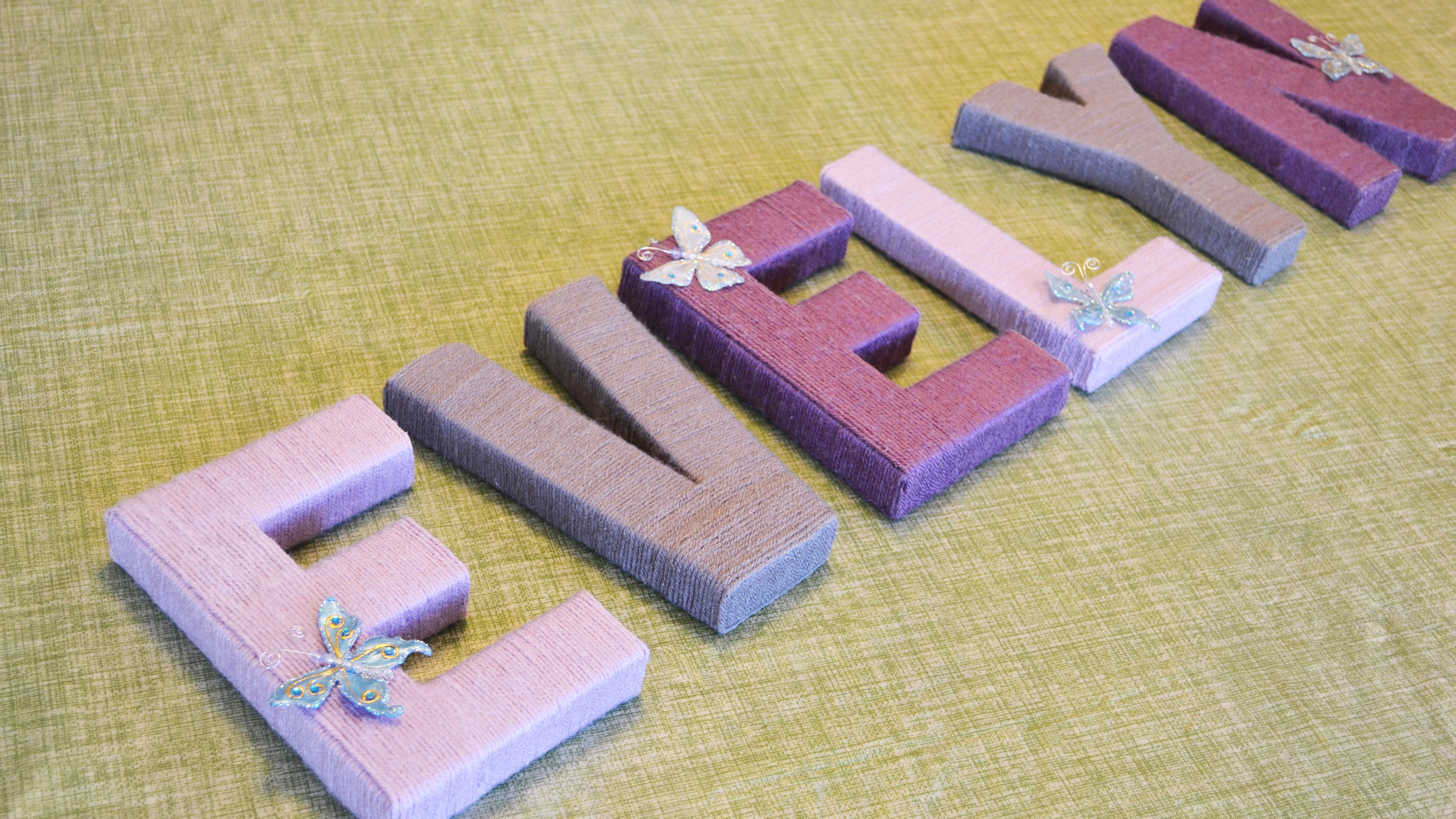ideas for decorating wooden letters.htm diy nursery art yarn wrapped letters  diy nursery art yarn wrapped letters