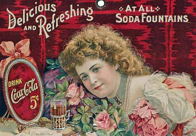 Hilda Clark Coca-Cola Calendar Art, c. 1901