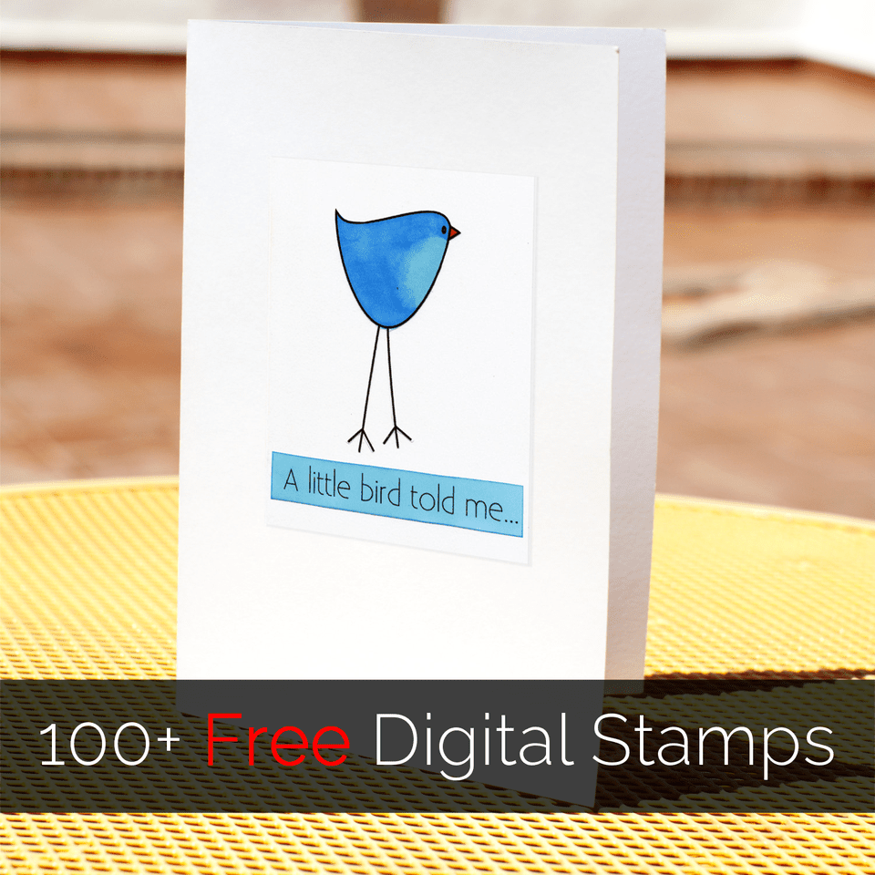 Digital stamping opens up a whole range of opportunities. Look for free digital stamps to get started!