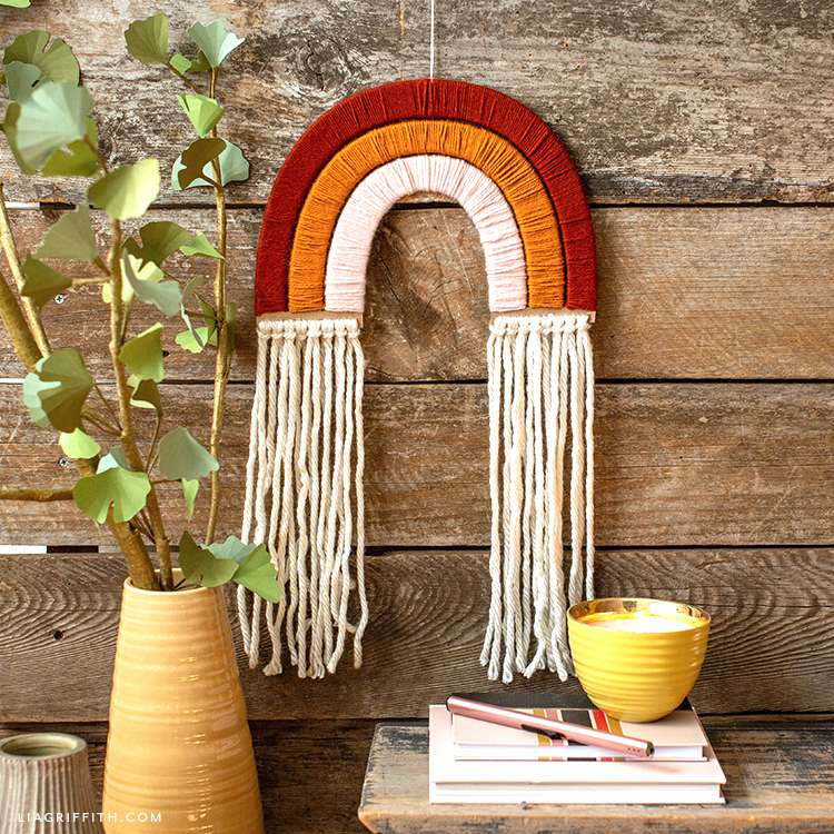 rainbow wall hanging diy