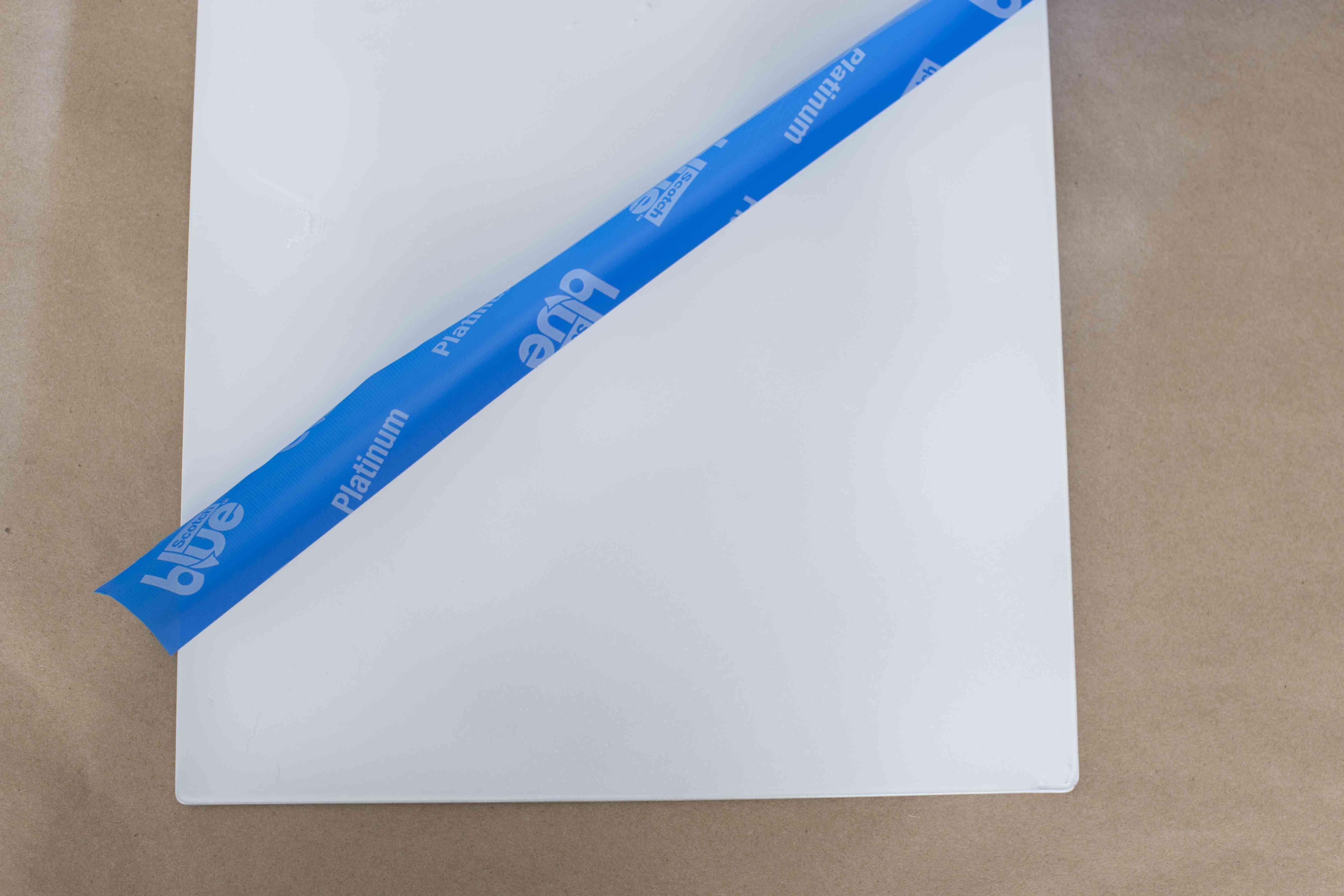Apply painter's tape
