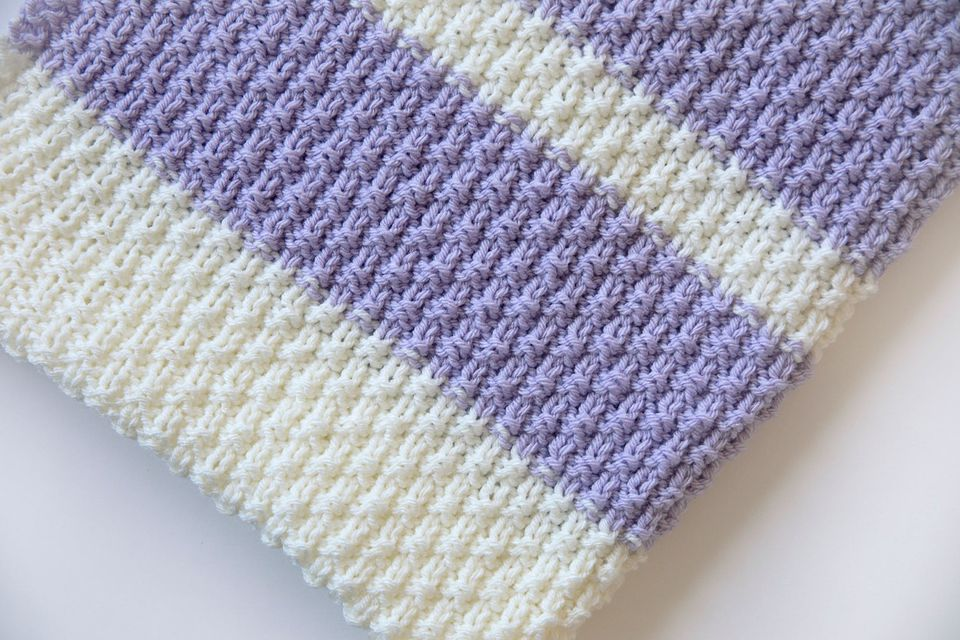 Easy Knit Baby Blanket