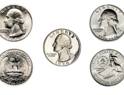 Washington Quarter Clad Examples