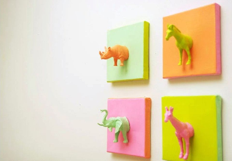 Plastic Animal Canvas