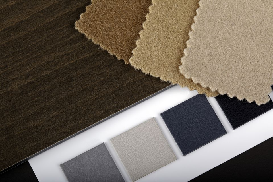 Synthetic leather color swatches