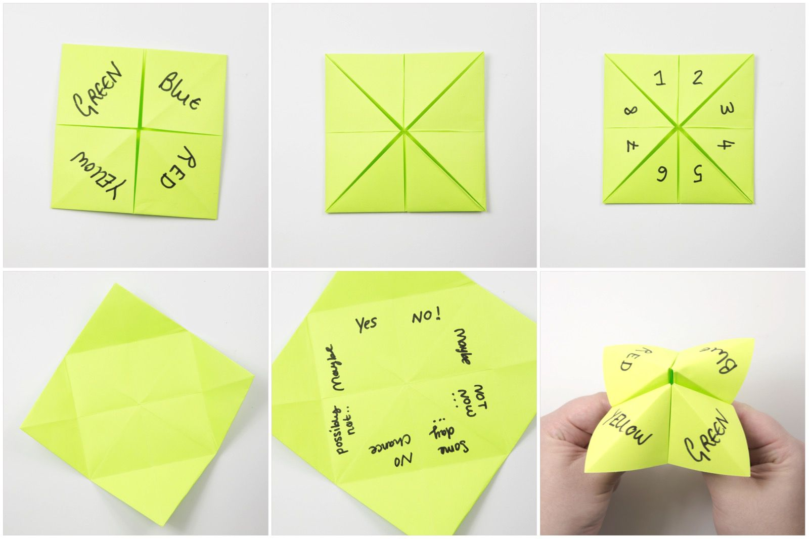 How to Make an Origami Cootie Catcher!