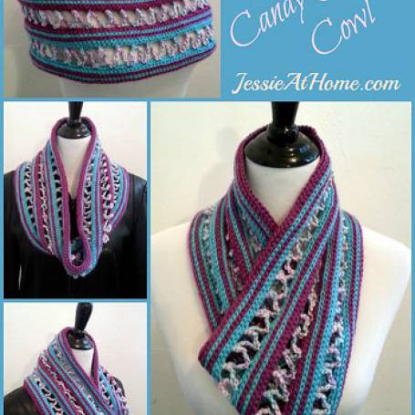 Candy Ribbons Cowl Free Crochet Pattern