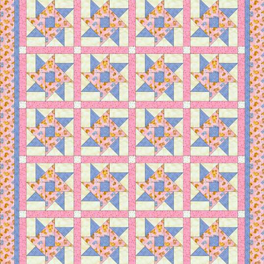 Double Star Toddler Quilt Pattern