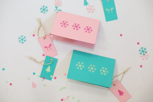 Paper Cut Christmas Cards and Gift Tags