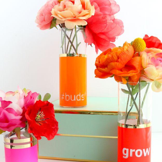 DIY Neon Typography Bud Vase