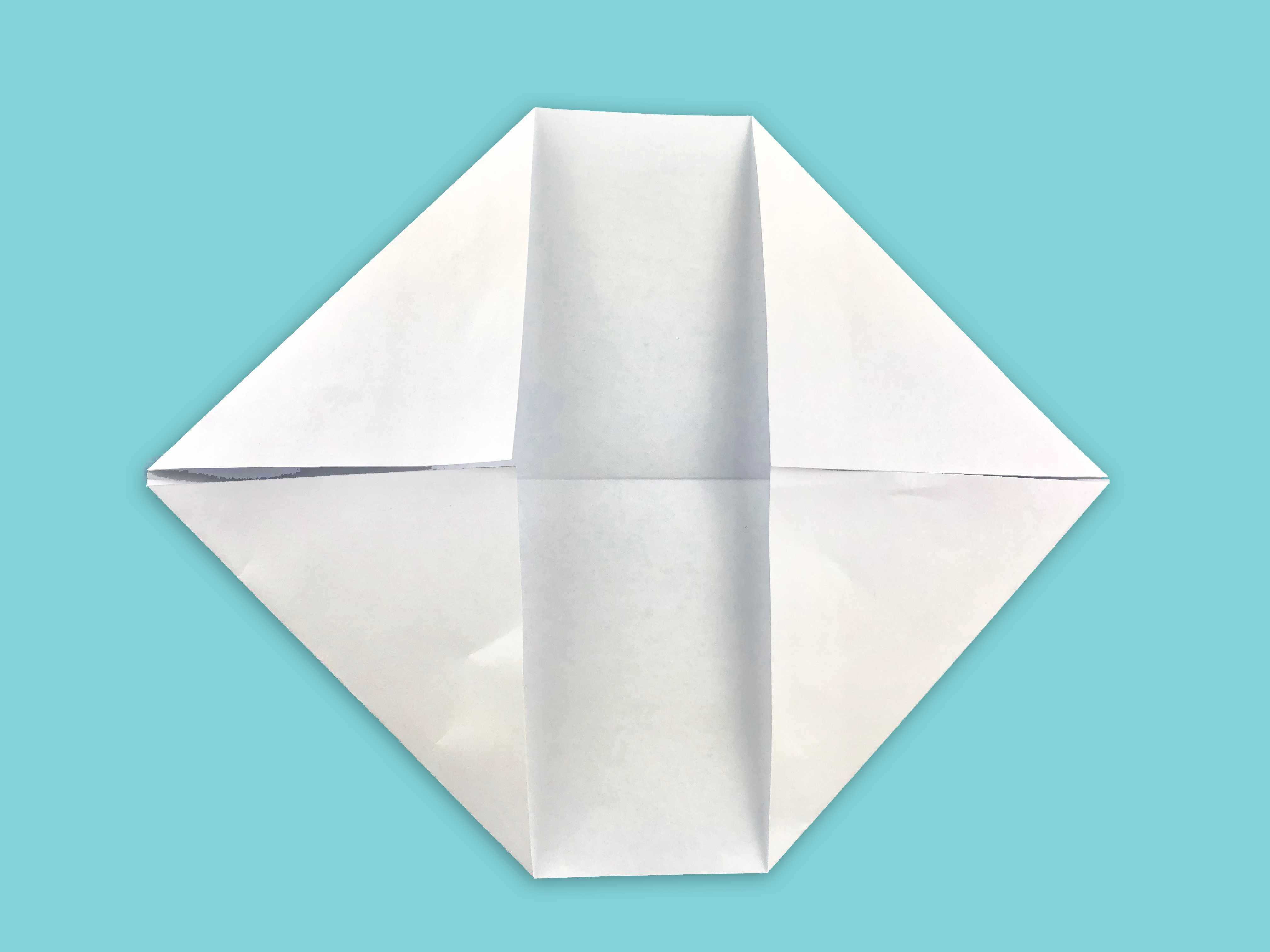 left corners folded