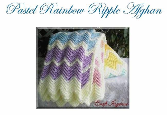 Free Crochet Pattern Ripple Afghan Choice Image Knitting Patterns