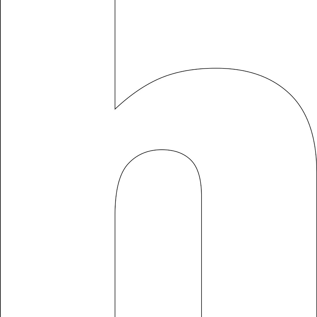Free Printable 'h' Template