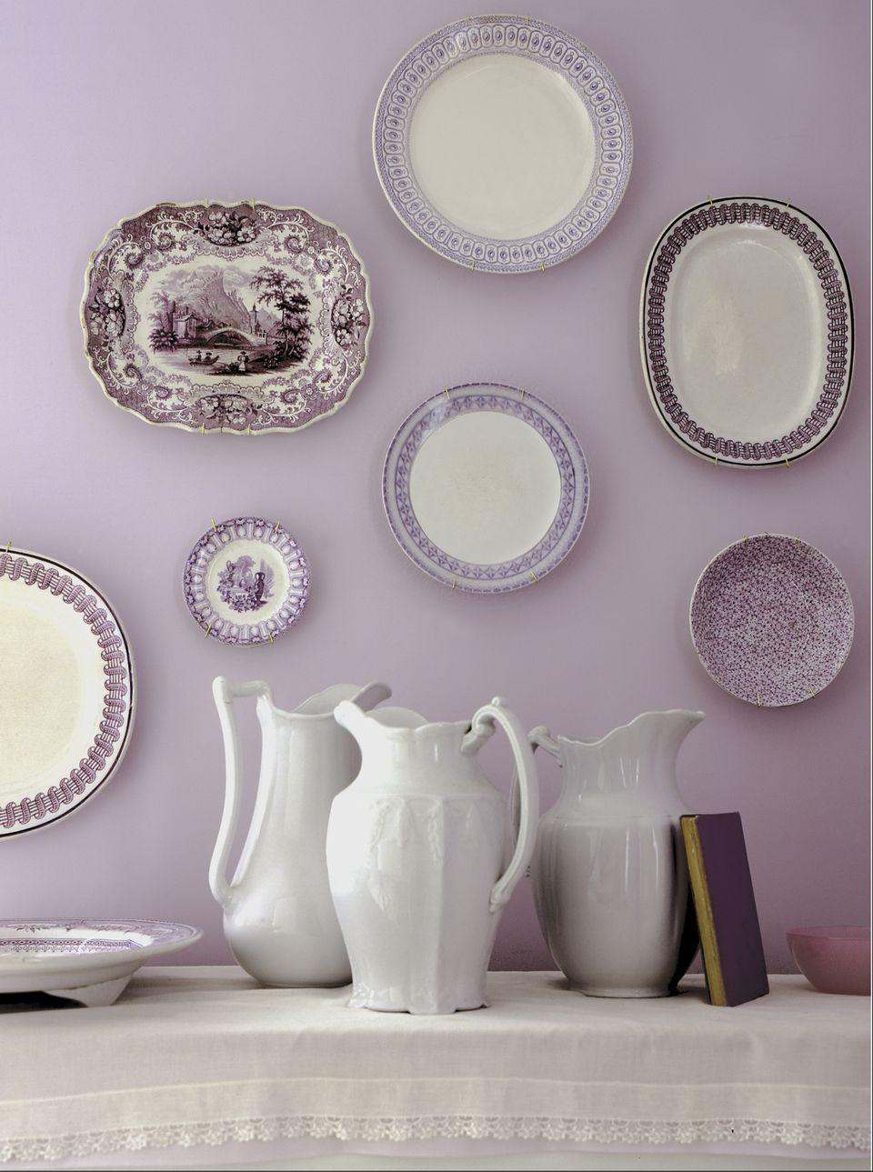 Antique plates + pitchers