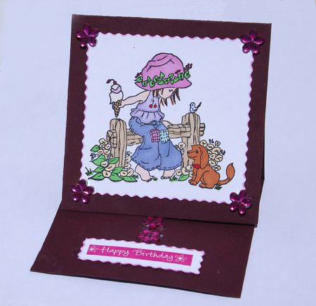 learn how to make a one piece simple easel card