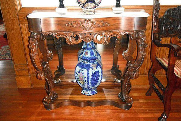 American Rococo Petticoat Console Table