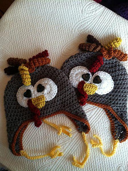 turkey earflap hat free crochet pattern