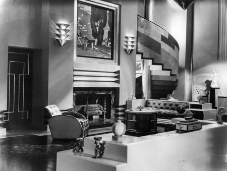 1929 Photo Of The Art Deco Interior A House Which Serves As Set For