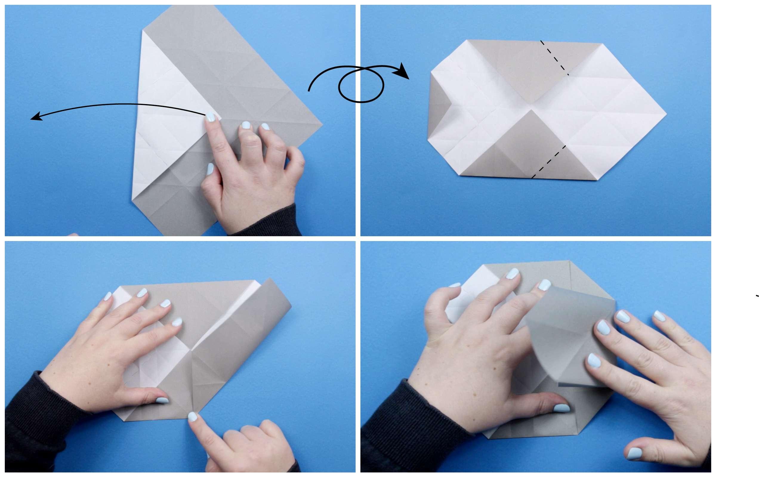 Origami elephant tutorial step four
