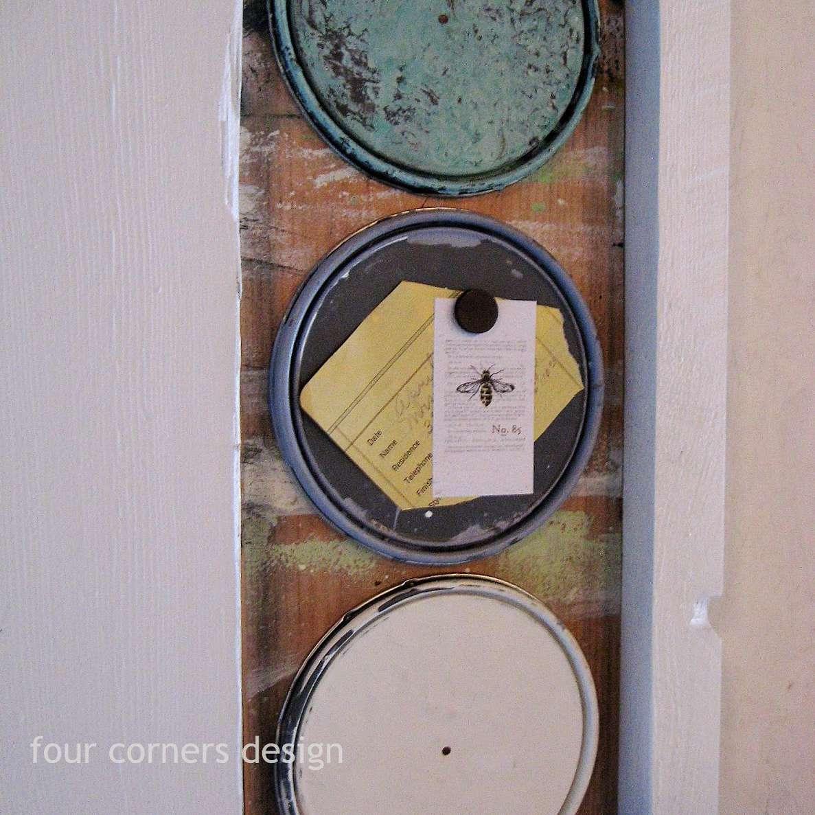 paint can lids memo board