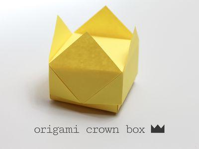 Easy Origami Crown Box Tutorial