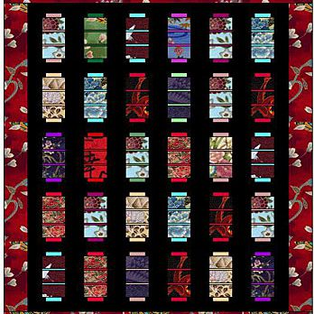 oriental lanterns quilt