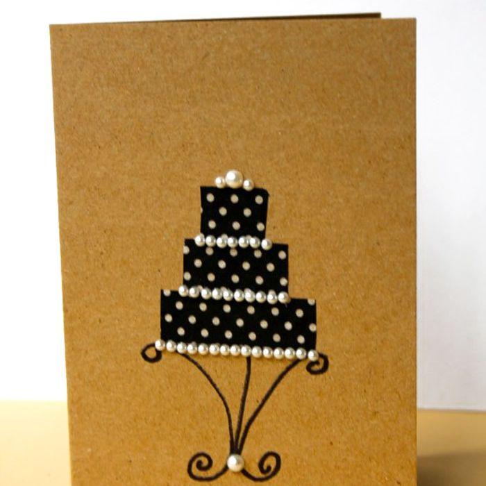 washi tape wedding card