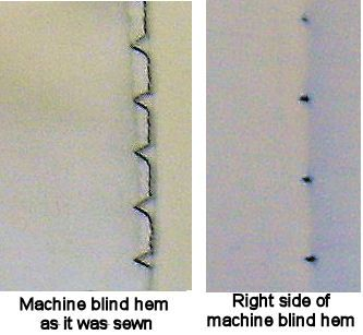 Sewn Blind Hem Example