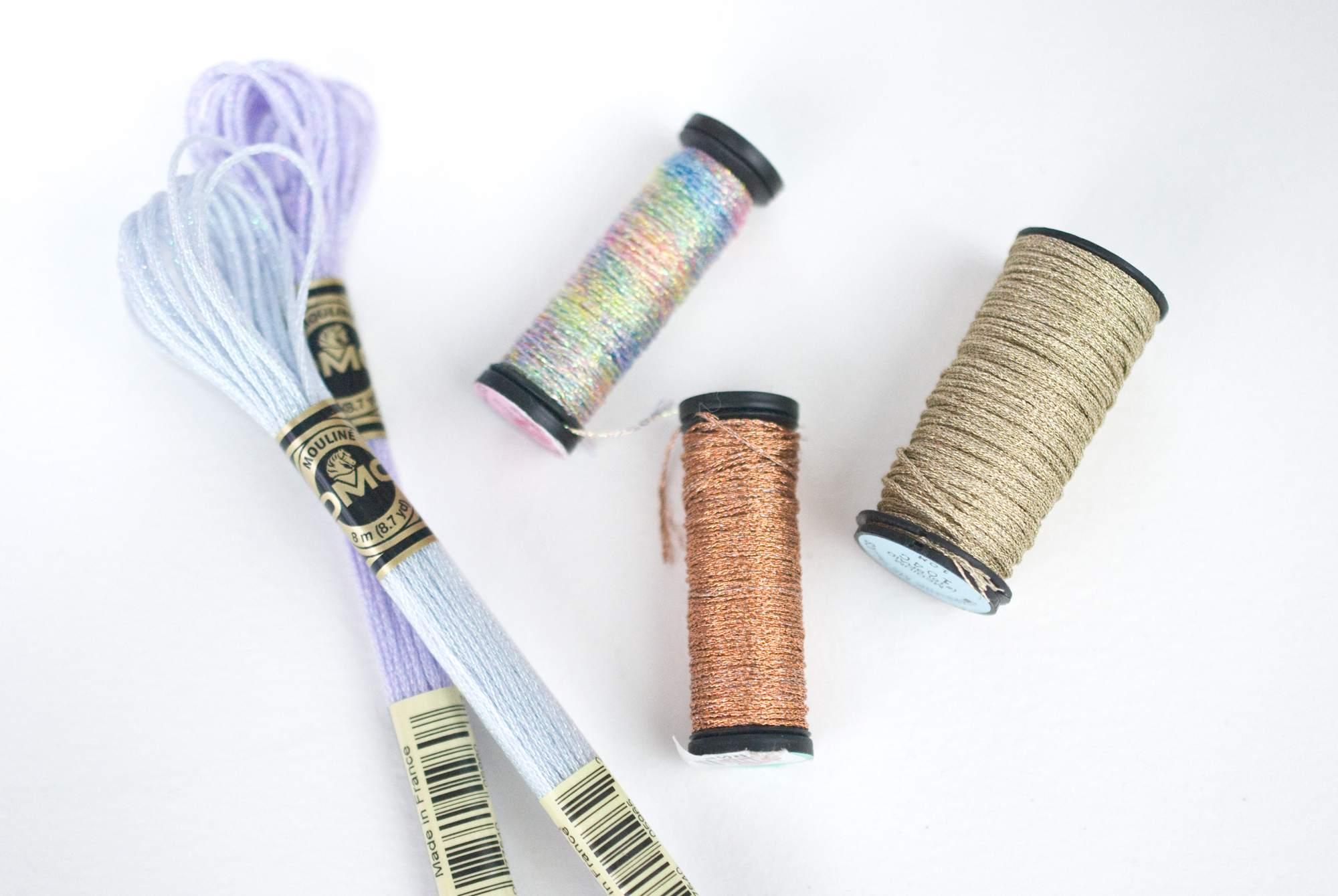 DMC and Kreinik Metallic Threads