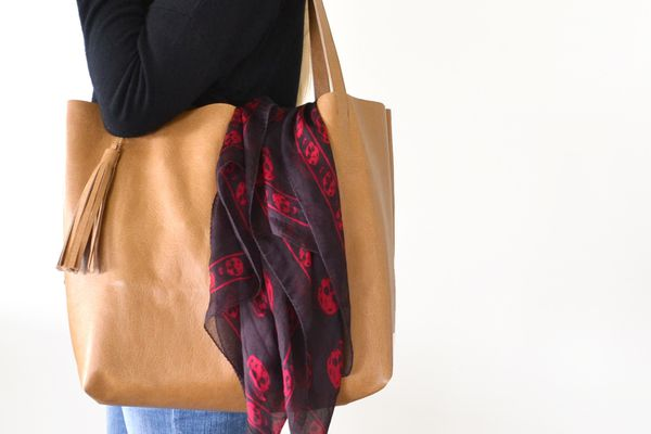 DIY Leather Tote Bag With Tassel