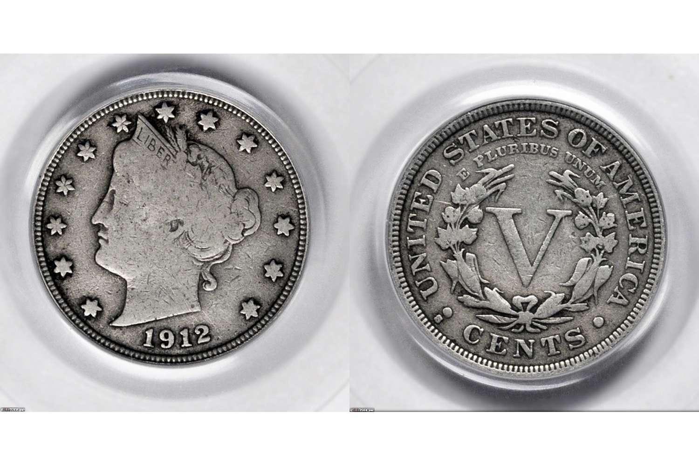 Example of a circulated Liberty head nickel