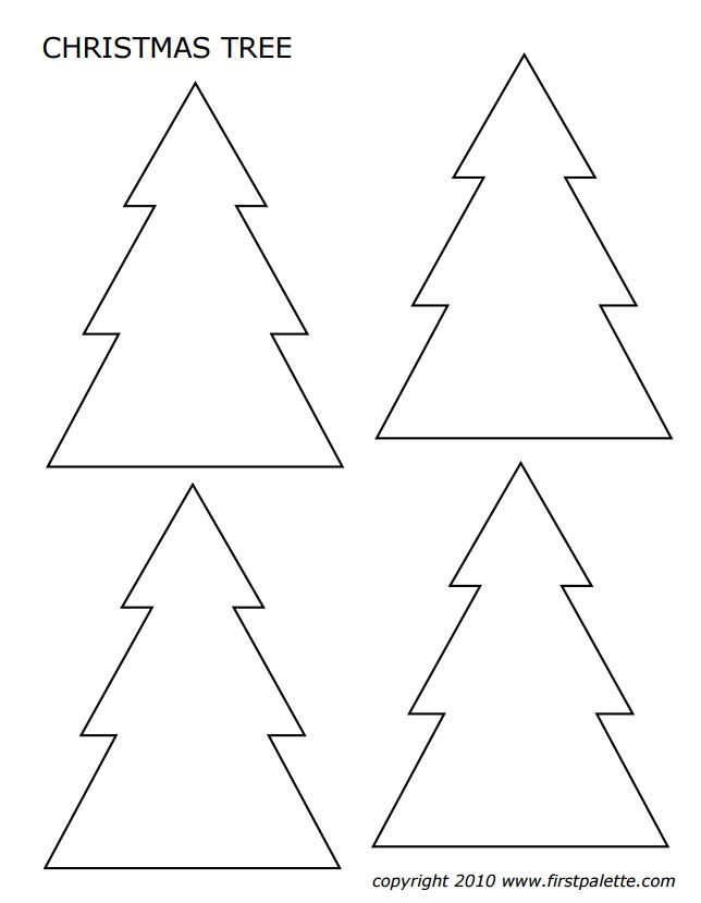 Christmas tree templates in all shapes and sizes maxwellsz