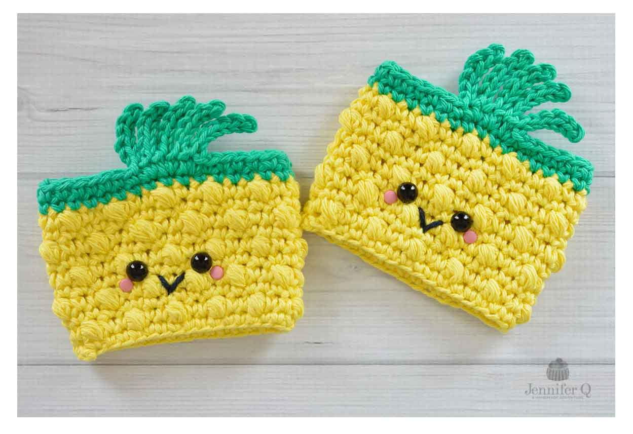Pineapple Coffee Cuff Crochet Pattern