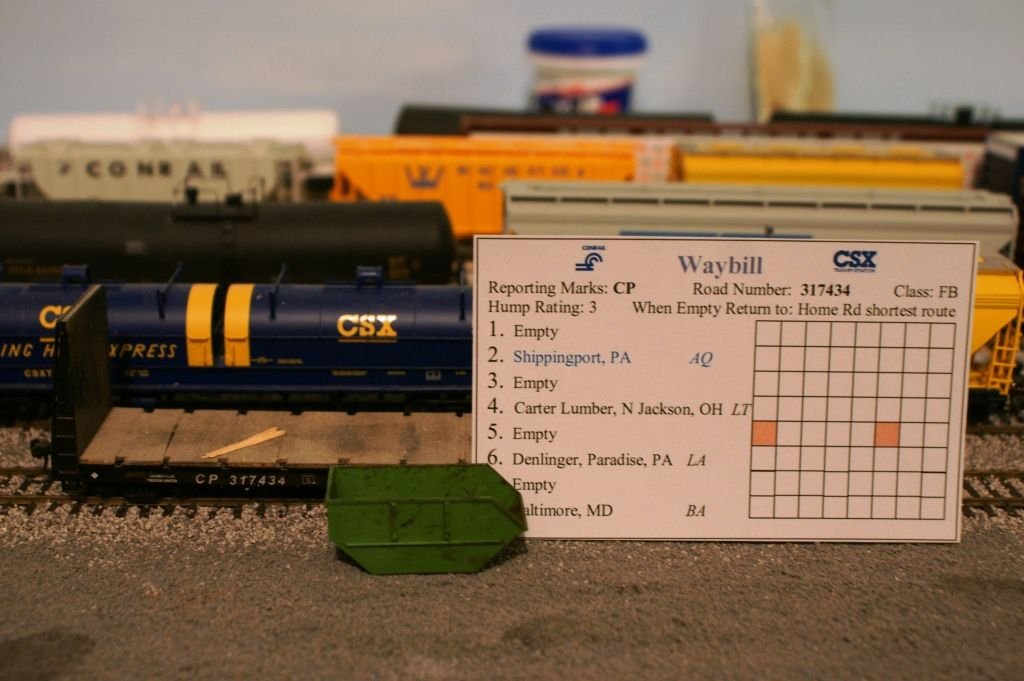 Empty CP Rail flatcar