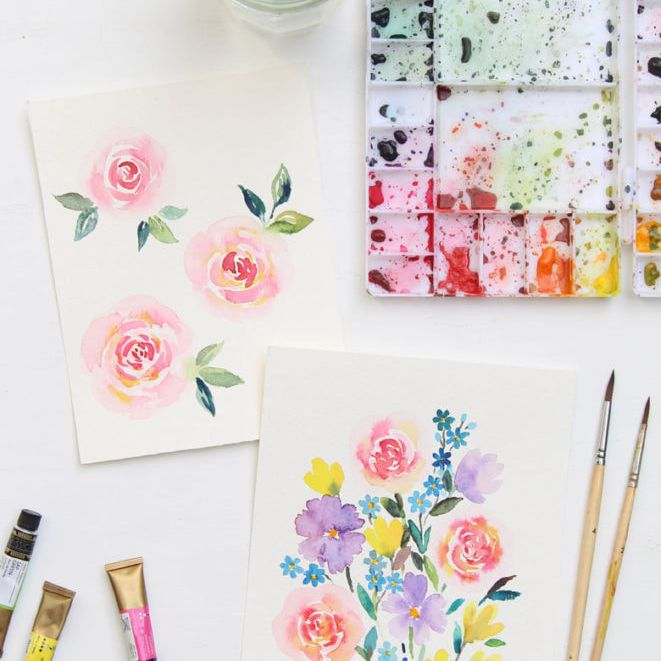 watercolor painting tutorial for stress relief