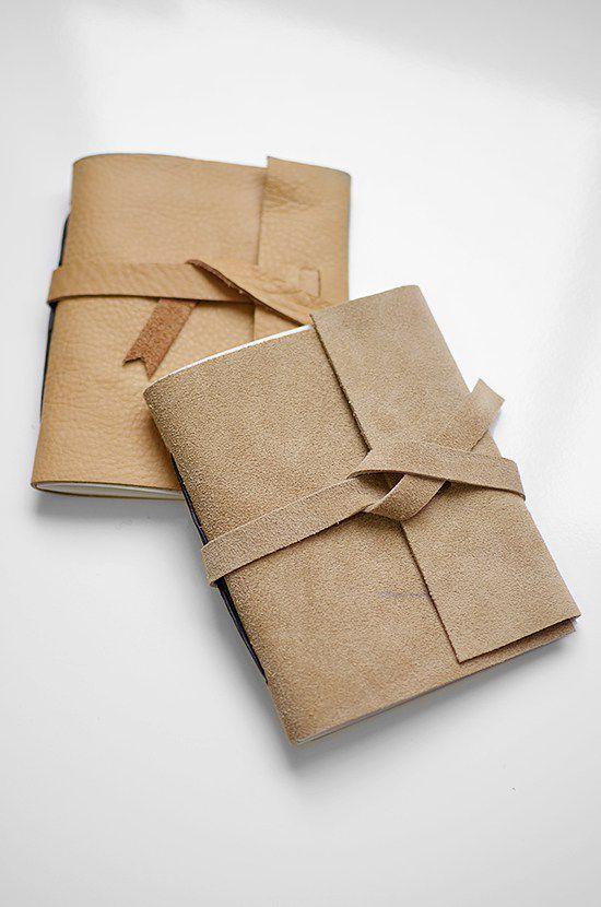 diy leather bound journal