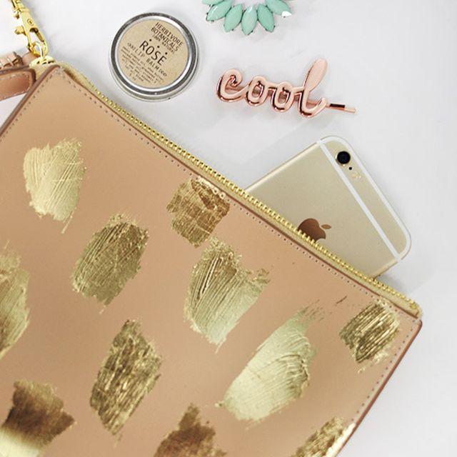 diy gold purse